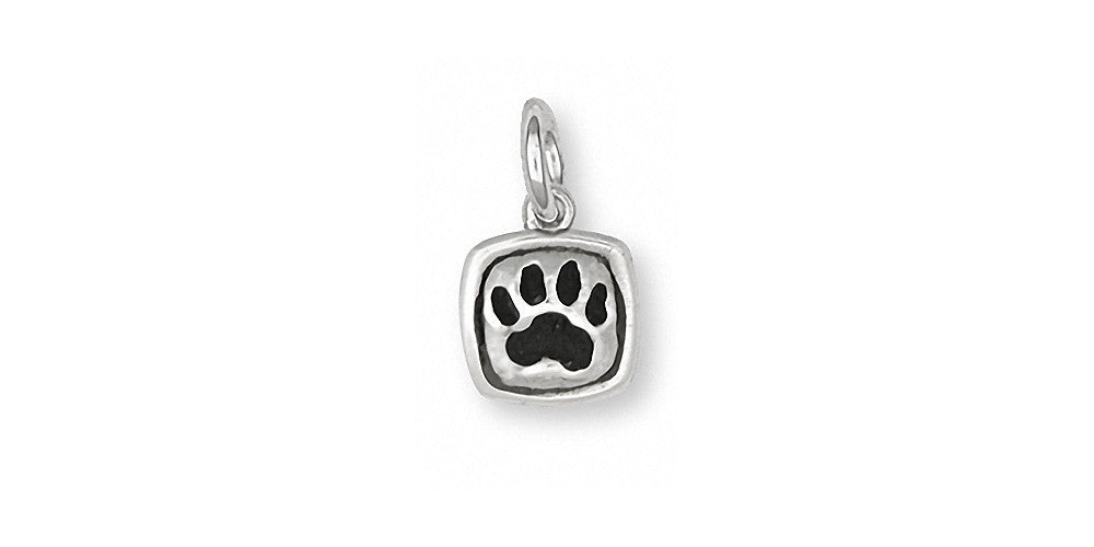Dog Paw Charms Dog Paw Charm Sterling Silver Dog Jewelry Dog Paw jewelry