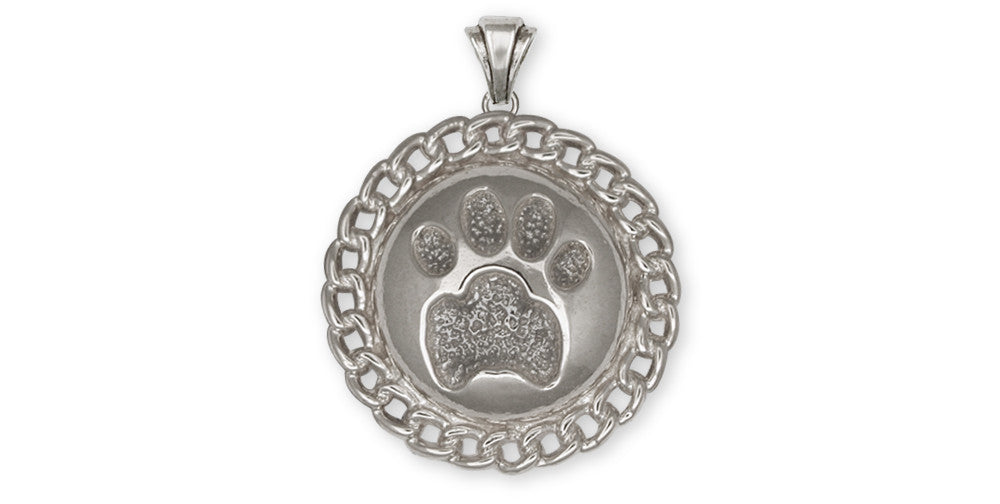 Dog Paw Charms Dog Paw Pendant Sterling Silver Dog Jewelry Dog Paw jewelry