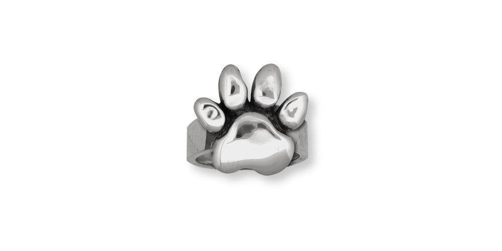Dog Paw Charms Dog Paw Ring Sterling Silver Dog Jewelry Dog Paw jewelry