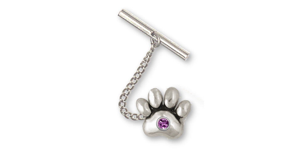 Dog Paw Charms Dog Paw Tie Tack Sterling Silver Dog Jewelry Dog Paw jewelry