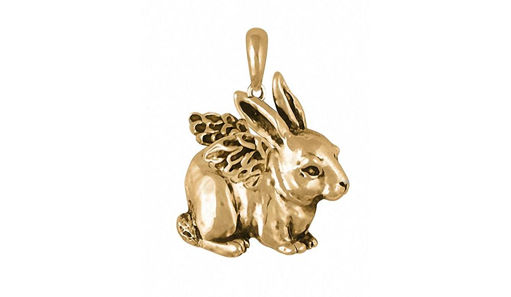 Rabbit Charms Rabbit Pendant 14k Gold Rabbit Jewelry Rabbit jewelry