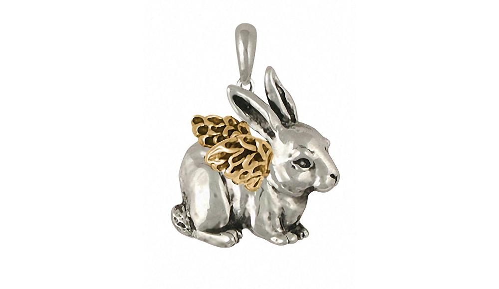 Rabbit Charms Rabbit Pendant Silver And 14k Gold Rabbit Jewelry Rabbit jewelry