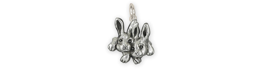 Rabbit Charms Rabbit Charm Sterling Silver Rabbit Jewelry Rabbit jewelry