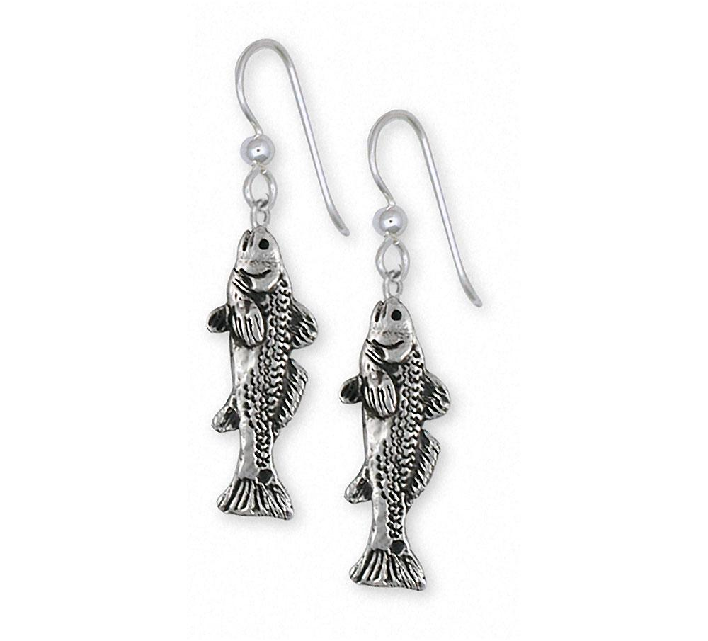 Redfish Charms Redfish Earrings Sterling Silver Fish Jewelry Redfish jewelry