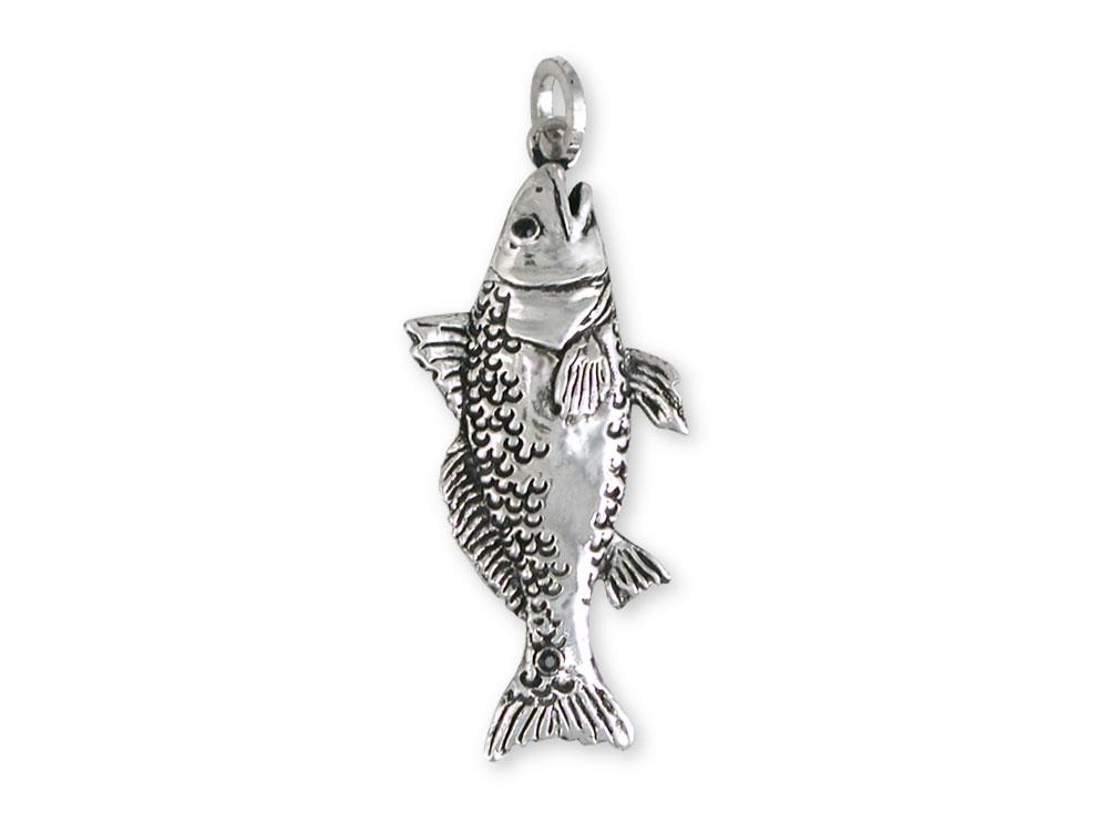 16-20 Mireval Sterling Silver Fish Charm on a Sterling Silver Chain Necklace