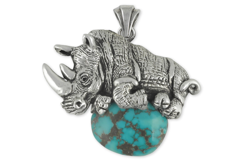 Rhinoceros Charms Rhinoceros Pendant Sterling Silver Wildlife Jewelry Rhinoceros jewelry