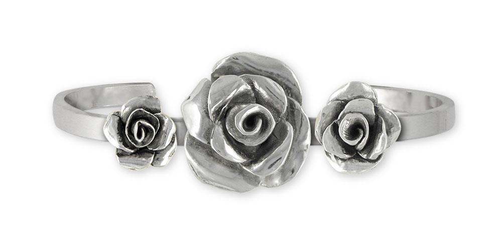 Rose Charms Rose Bracelet Sterling Silver Flower Jewelry Rose jewelry
