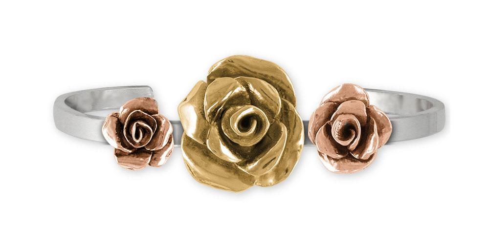 Rose Charms Rose Bracelet Gold Vermeil Flower Jewelry Rose jewelry