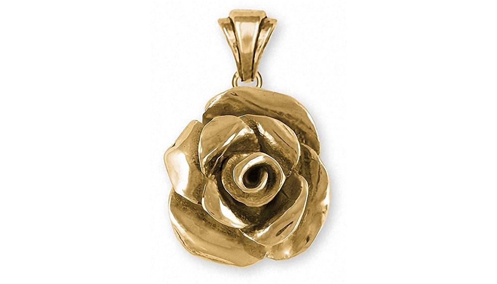 Rose Flower Pendant 14k Gold Esquivel And Fees Handmade Charm And Jewelry Designs