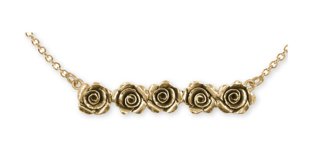Rose Charms Rose Necklace 14k Gold Flower Jewelry Rose jewelry
