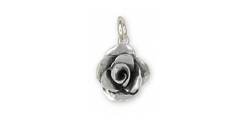 Rose Charms Rose Charm Sterling Silver Flower Jewelry Rose jewelry