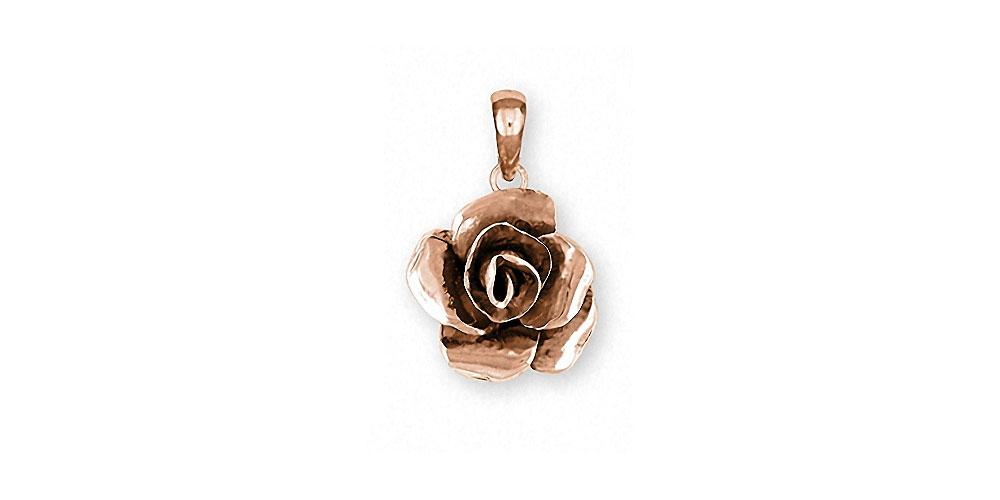 Rose Charms Rose Pendant 14k Rose Gold Flower Jewelry Rose jewelry