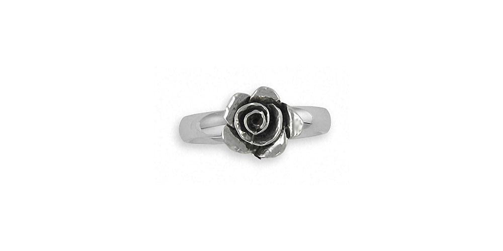 Rose Charms Rose Ring Sterling Silver Flower Jewelry Rose jewelry