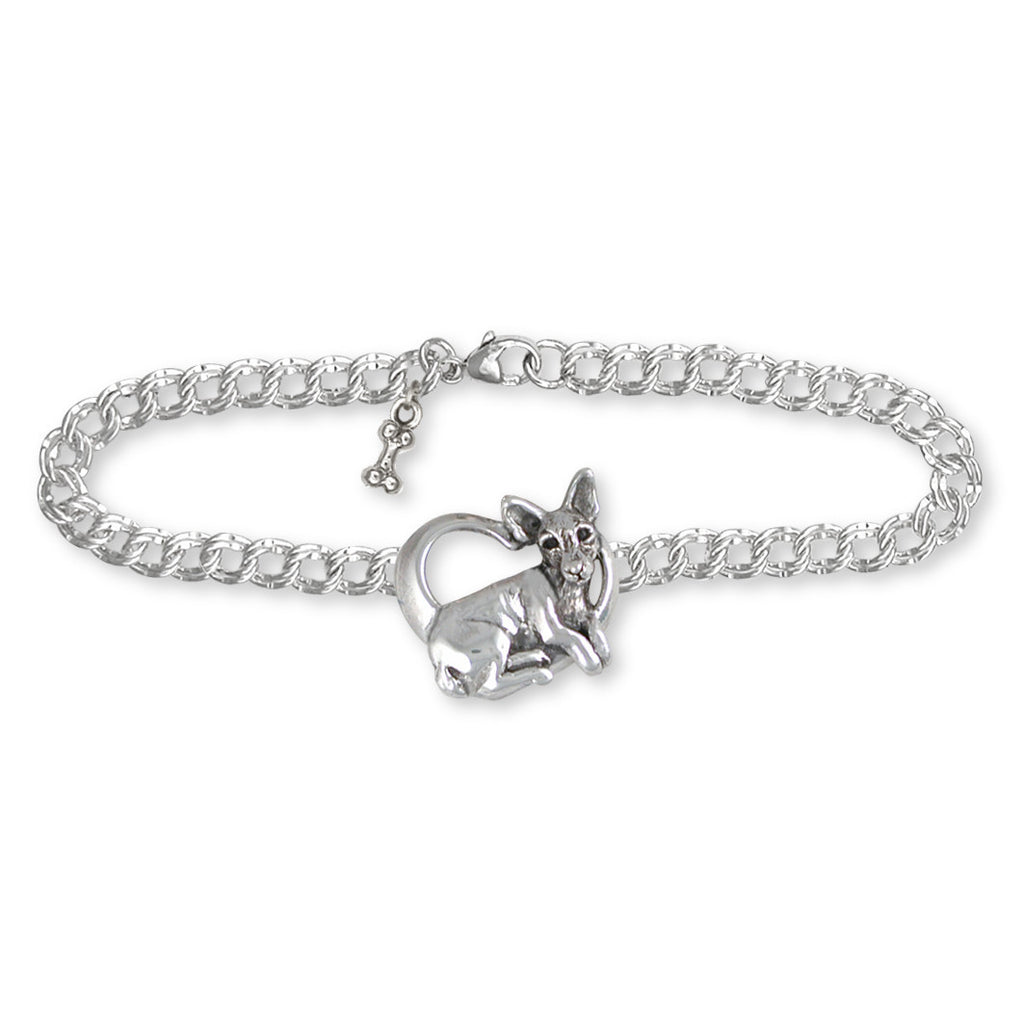 Rat Terrier Charms Rat Terrier Bracelet Sterling Silver Dog Jewelry Rat Terrier jewelry