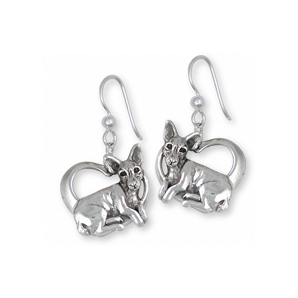 Rat Terrier Charms Rat Terrier Earrings Sterling Silver Dog Jewelry Rat Terrier jewelry