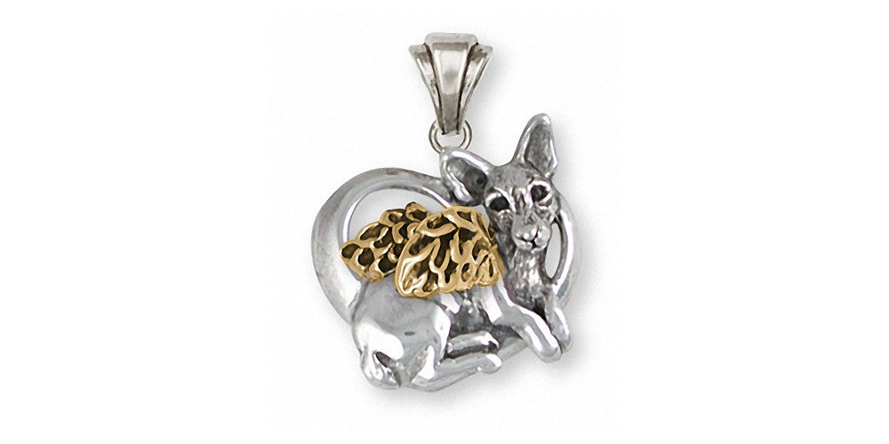 Rat Terrier Charms Rat Terrier Pendant Silver And Gold Dog Jewelry Rat Terrier jewelry