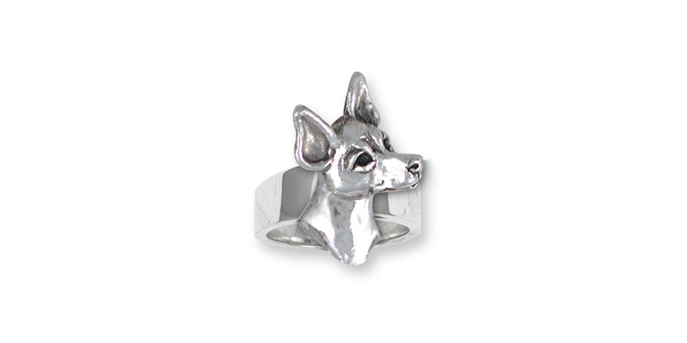 Rat Terrier Charms Rat Terrier Ring Sterling Silver Dog Jewelry Rat Terrier jewelry