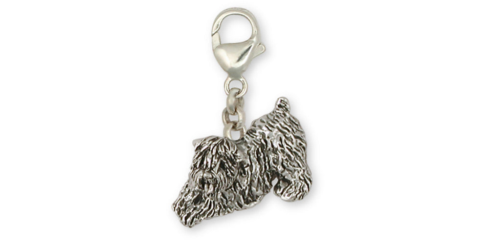 Soft Coated Wheaten Charms Soft Coated Wheaten Zipper Pull Sterling Silver Dog Jewelry Soft Coated Wheaten jewelry