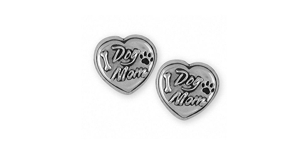 Dog Mom Charms Dog Mom Earrings Sterling Silver Dog Jewelry Dog Mom jewelry