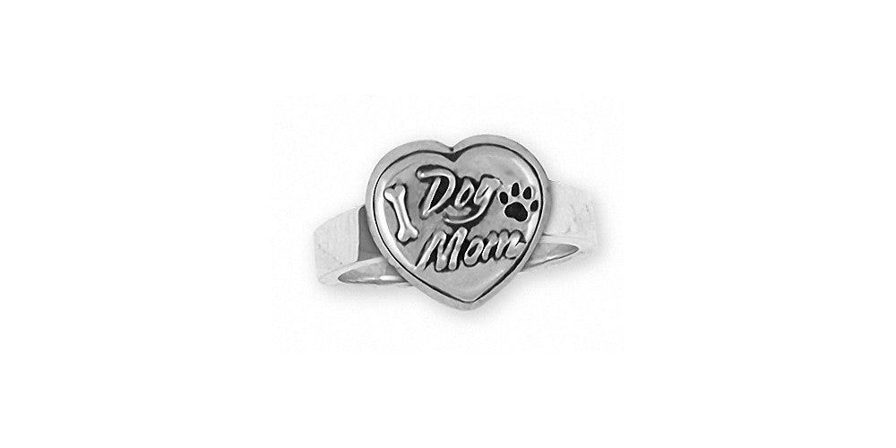 Dog Mom Charms Dog Mom Ring Sterling Silver Dog Jewelry Dog Mom jewelry