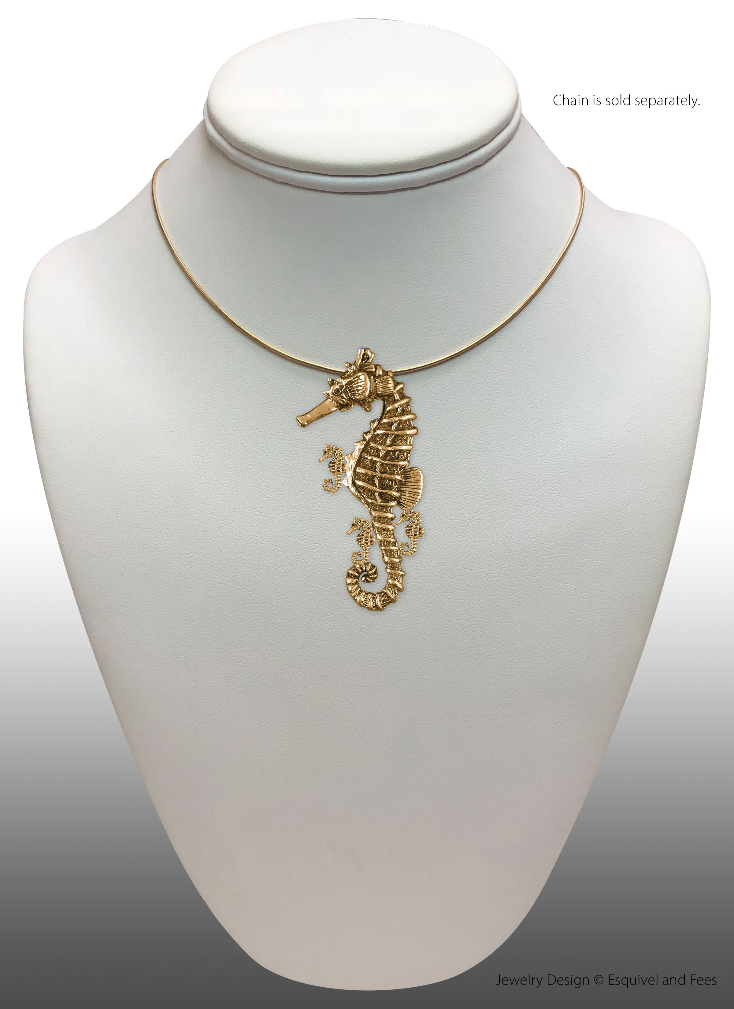 Seahorse Sea Horse And Fry Pendant 14k Gold Esquivel And Fees Handmade Charm And Jewelry Designs