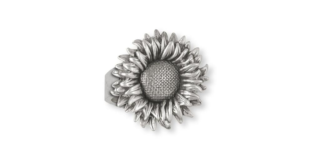 2a073620c Sunflower Charms Sunflower Ring Sterling Silver Flower Jewelry Sunflower  jewelry