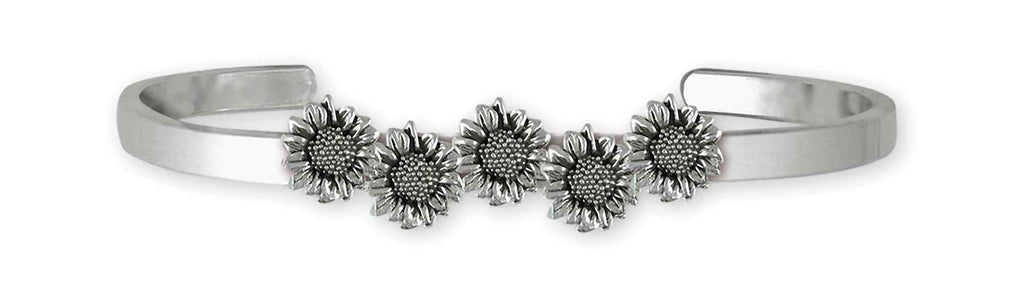 Sunflower Charms Sunflower Bracelet Sterling Silver Sunflower Jewelry Sunflower jewelry