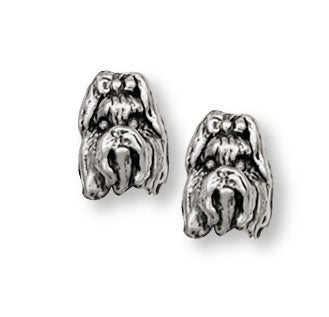 Shih Tzu Earrings Handmade Silver Shih Tzu Jewelry SH3-E