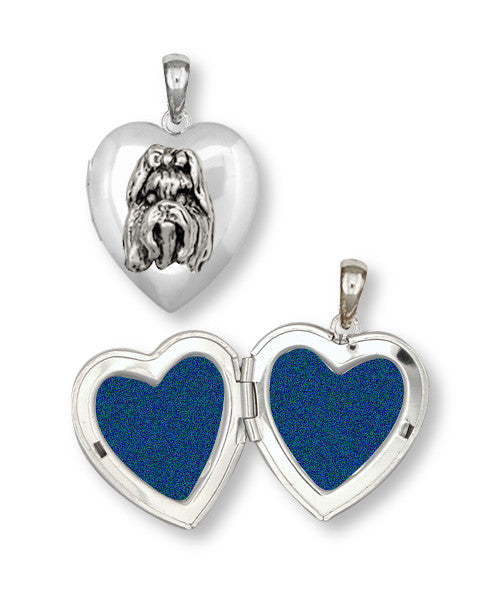 Shih Tzu Photo Locket Handmade Silver Shih Tzu Jewelry SH3-T