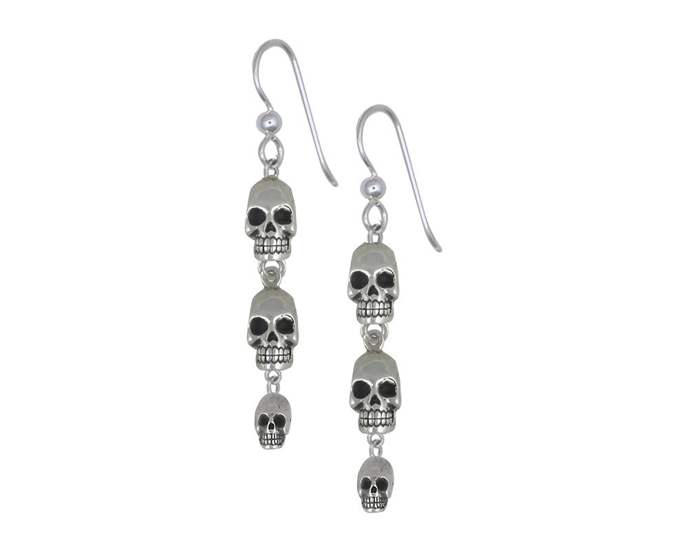 Skull Charms Skull Earrings Sterling Silver Skull Jewelry Skull jewelry