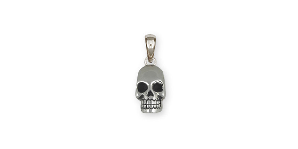 Skull skull pendant sterling silver esquivel and fees handmade skull charms skull pendant sterling silver skull jewelry skull jewelry mozeypictures Image collections