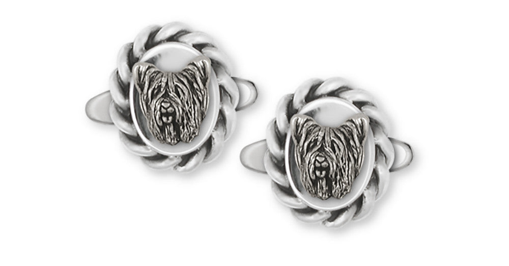 Skye Terrier Charms Skye Terrier Cufflinks Sterling Silver Dog Jewelry Skye Terrier jewelry