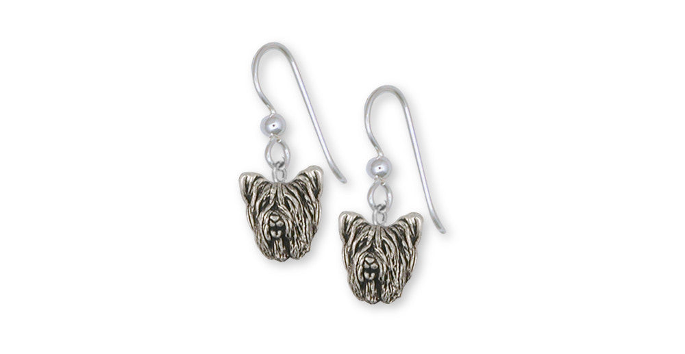 Skye Terrier Charms Skye Terrier Earrings Sterling Silver Dog Jewelry Skye Terrier jewelry