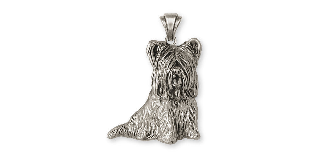 Skye Terrier Charms Skye Terrier Pendant Sterling Silver Dog Jewelry Skye Terrier jewelry