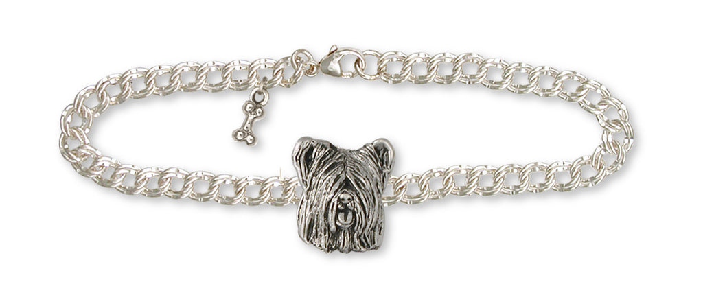Skye Terrier Charms Skye Terrier Bracelet Sterling Silver Dog Jewelry Skye Terrier jewelry