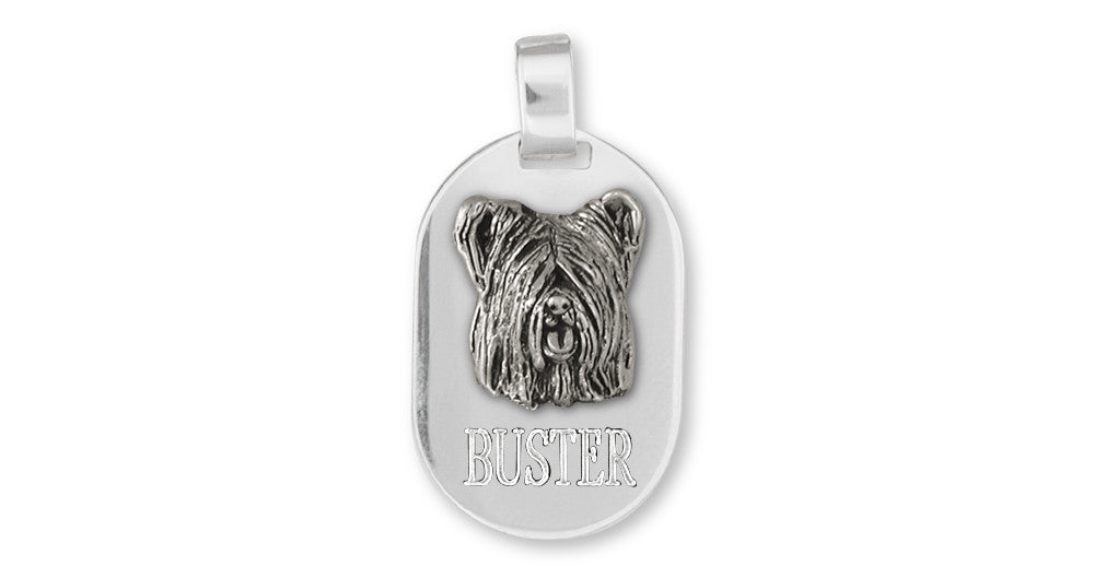 Skye Terrier Charms Skye Terrier Personalized Pendant Sterling Silver Dog Jewelry Skye Terrier jewelry