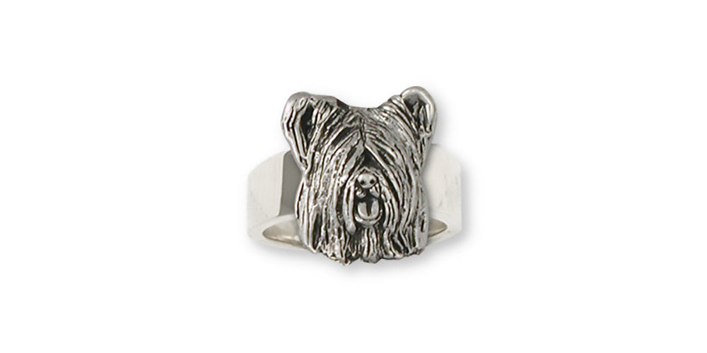 Skye Terrier Charms Skye Terrier Ring Sterling Silver Dog Jewelry Skye Terrier jewelry