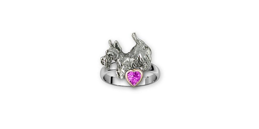 Schnauzer Charms Schnauzer Ring Silver And 14k Gold Schnauzer Jewelry Schnauzer jewelry