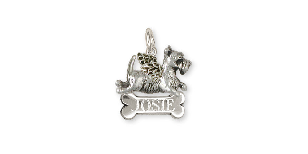 Scottie Scottish Terrier Angel Charms Scottie Scottish Terrier Angel Charm Handmade Sterling Silver Dog Jewelry Scottie Scottish Terrier Angel jewelry
