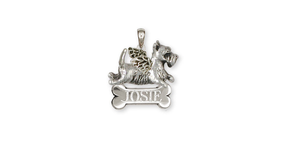 Scottie Scottish Terrier Angel Charms Scottie Scottish Terrier Angel Pendant Handmade Sterling Silver Dog Jewelry Scottie Scottish Terrier Angel jewelry