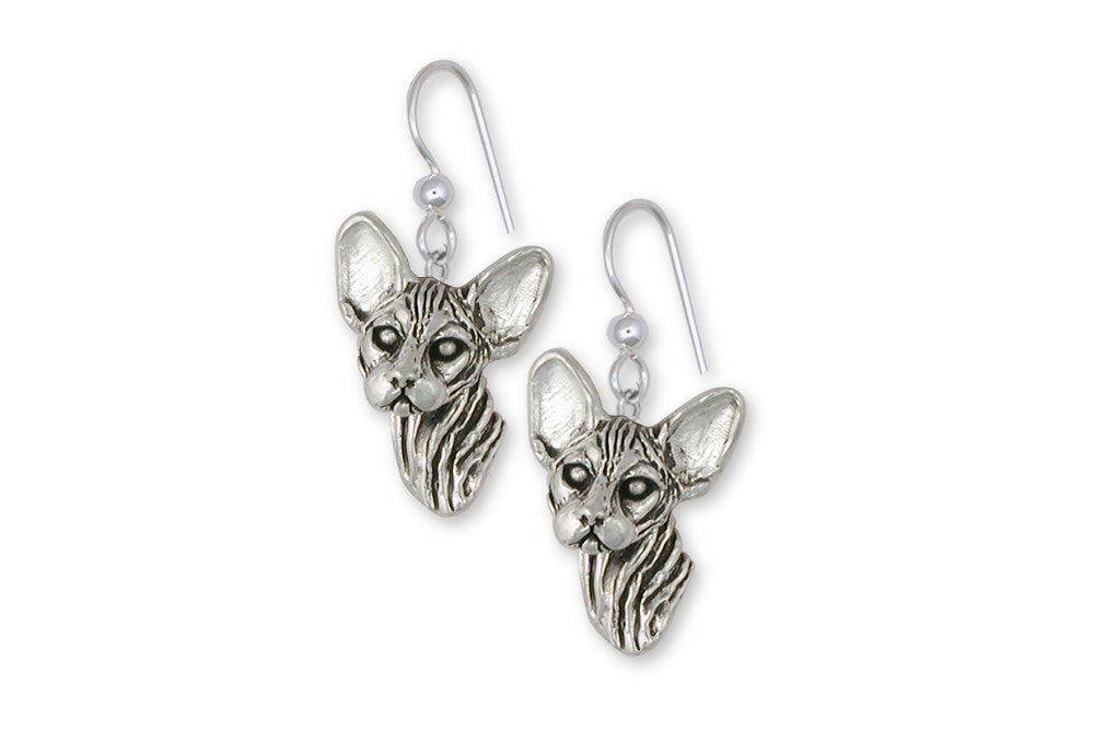 Sphynx Cat Charms Sphynx Cat Earrings Sterling Silver Cat Jewelry Sphynx Cat jewelry