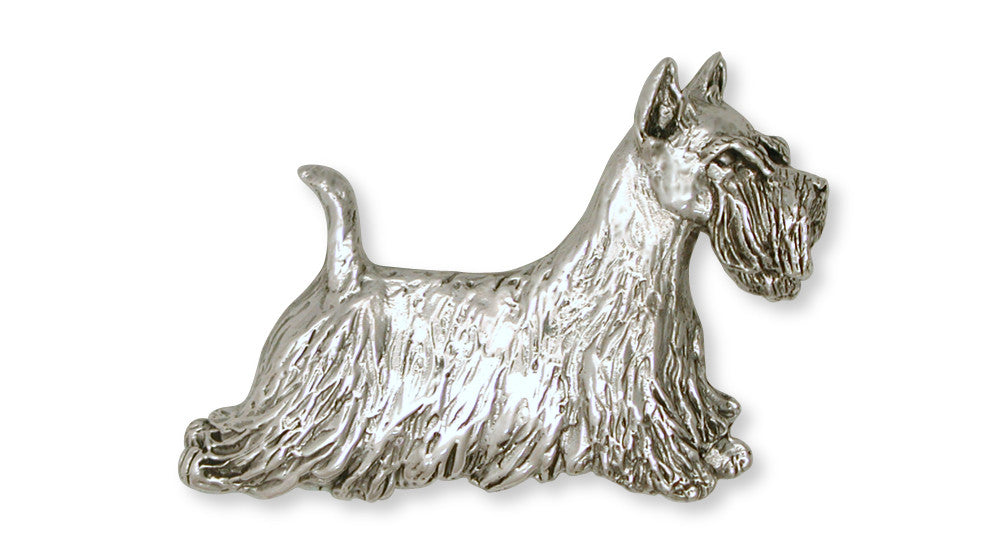 Scottie Scottish Terrier Charms Scottie Scottish Terrier Brooch Pin Handmade Sterling Silver Dog Jewelry Scottie Scottish Terrier jewelry