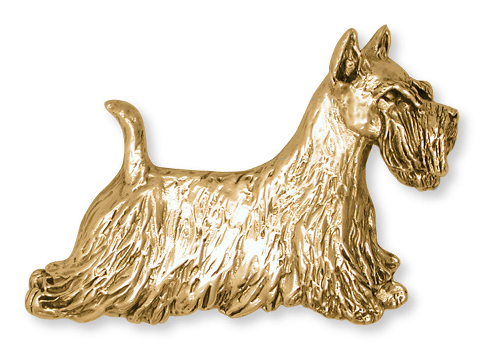 Scottie Scottish Terrier Charms Scottie Scottish Terrier Brooch Pin 14k Yellow Gold Vermeil Dog Jewelry Scottie Scottish Terrier jewelry