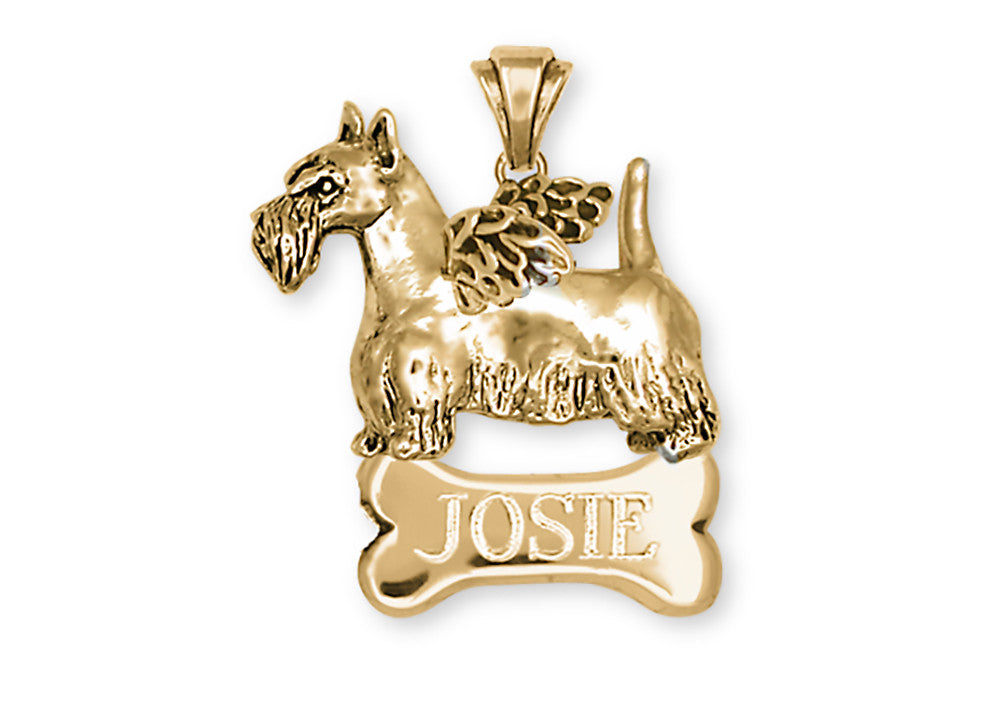 Scottie Scottish Terrier Angel Charms Scottie Scottish Terrier Angel Pendant 14k Yellow Gold Vermeil Dog Jewelry Scottie Scottish Terrier Angel jewelry