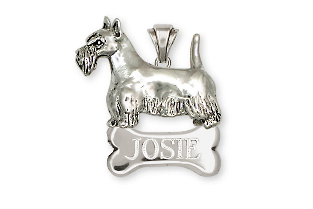 Scottie Scottish Terrier Charms Scottie Scottish Terrier Personalized Pendant Handmade Sterling Silver Dog Jewelry Scottie Scottish Terrier jewelry