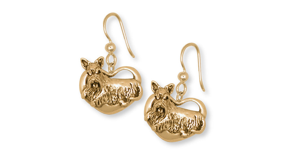 Scottie Scottish Terrier Charms Scottie Scottish Terrier Earrings 14k Yellow Gold Vermeil Dog Jewelry Scottie Scottish Terrier jewelry