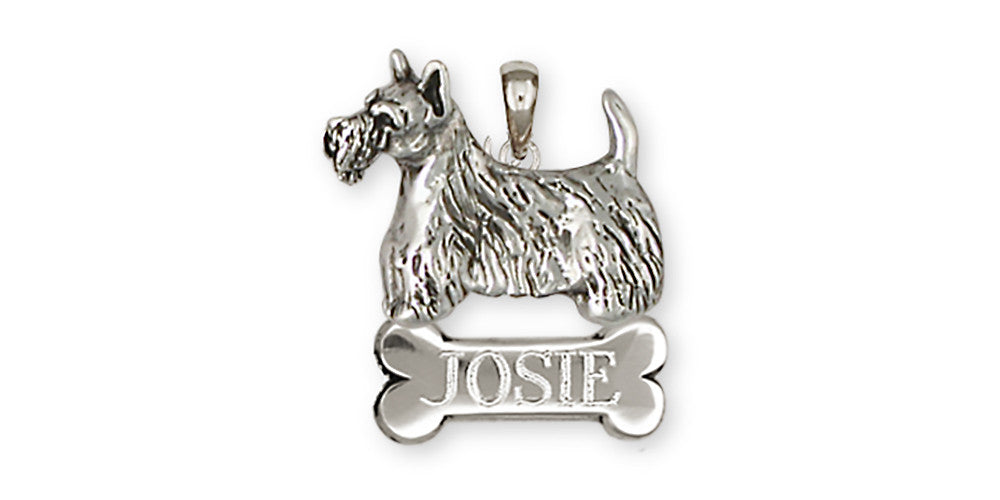 Scottie Scottish Terrier Charms Scottie Scottish Terrier Pendant Handmade Sterling Silver Dog Jewelry Scottie Scottish Terrier jewelry