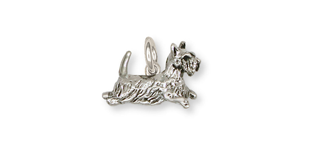 Scottie Scottish Terrier Charms Scottie Scottish Terrier Charm Handmade Sterling Silver Dog Jewelry Scottie Scottish Terrier jewelry