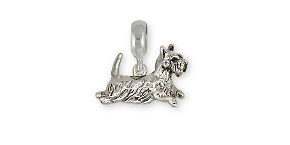 Scottie Scottish Terrier Charms Scottie Scottish Terrier Charm For Slide Bracelet Handmade Sterling Silver Dog Jewelry Scottie Scottish Terrier jewelry