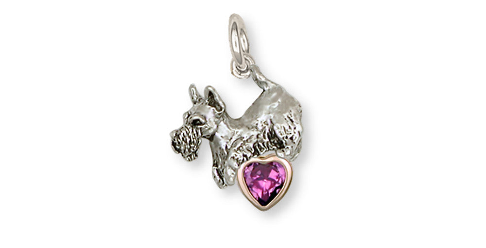 Scottie Scottish Terrier Charms Scottie Scottish Terrier Birthstone Charm Handmade Sterling Silver Dog Jewelry Scottie Scottish Terrier jewelry